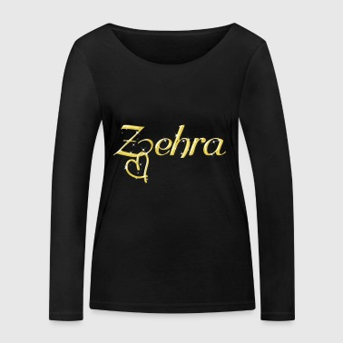 Zehra name women first name gold - Women's Organic Longsleeve Shirt by Stanley & Stella