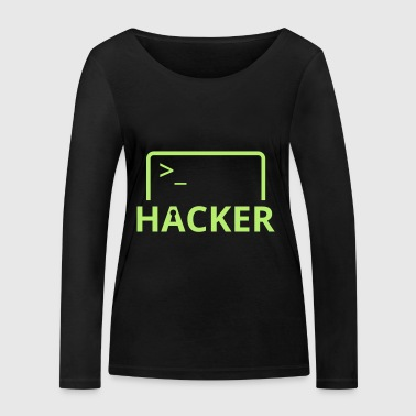 Hackers Internet Computer Science hack computer science - Women's Organic Longsleeve Shirt by Stanley & Stella