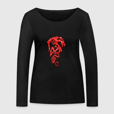 Dragon - Mosaic - red - Women's Organic Longsleeve Shirt by Stanley & Stella