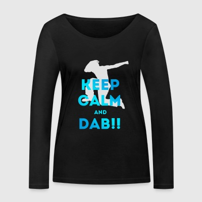 keep calm and dab dance Football touchdown fun coo - Frauen Bio-Langarmshirt von Stanley & Stella