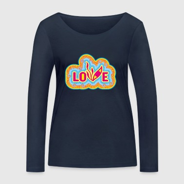 Love Pop Art Eye - T-shirt manches longues bio Stanley & Stella Femme