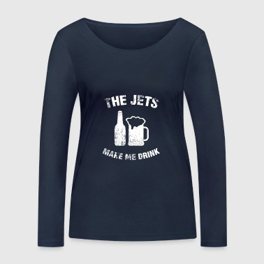 Jet The Jets - Women's Organic Longsleeve Shirt by Stanley & Stella