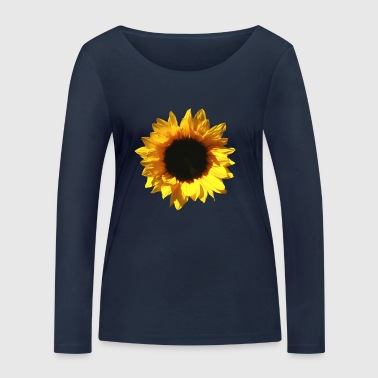 Sunflower Summer Bloom - Women's Organic Longsleeve Shirt by Stanley & Stella