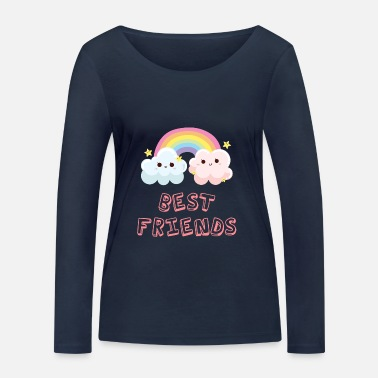 Best Friends Best Friends Best Friends Best Friends Cloud - Women's Organic Longsleeve Shirt by Stanley & Stella