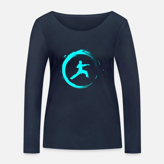 Martial Arts Long sleeve shirts - martial Arts - Women's Organic Longsleeve Shirt navy