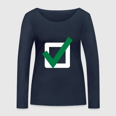 Mark Something Hook Check Mark Icon Icon - Women's Organic Longsleeve Shirt by Stanley & Stella