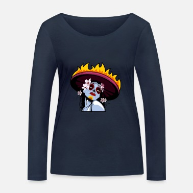 Mexico Day Of The Dead Day of the Dead - Women's Organic Longsleeve Shirt by Stanley & Stella