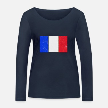 Flag French flag France tricolor - Women's Organic Longsleeve Shirt by Stanley & Stella