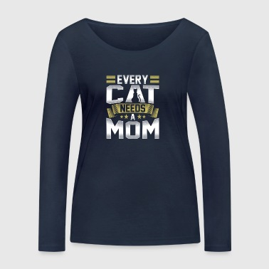 Every cat needs a mummy - Women's Organic Longsleeve Shirt by Stanley & Stella