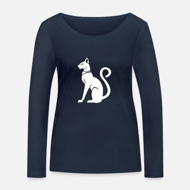 Ancient Bastet - cat goddess in ancient Egypt - Women's Organic Longsleeve Shirt by Stanley & Stella