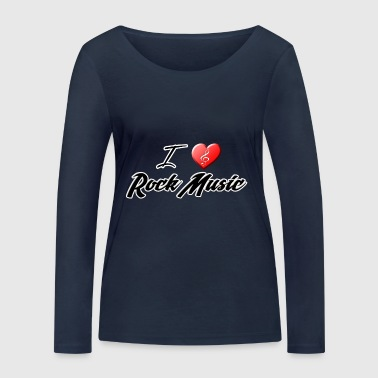 I love Rock - T-shirt manches longues bio Stanley & Stella Femme
