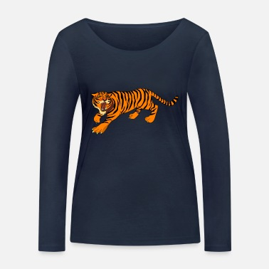 House Tiger, tigers, - Women's Organic Longsleeve Shirt by Stanley & Stella