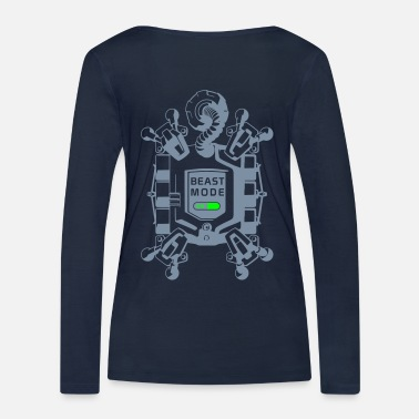 Beast Mode beast mode on - Women's Organic Longsleeve Shirt by Stanley & Stella