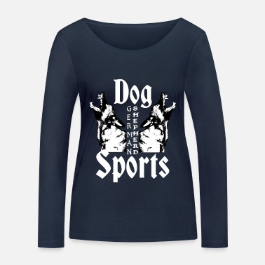 Dogs Shepherd, dog head, dog sports, dog face - Women's Organic Longsleeve Shirt