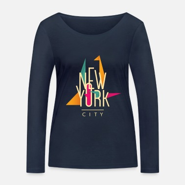 City new york city - Frauen Bio Langarmshirt