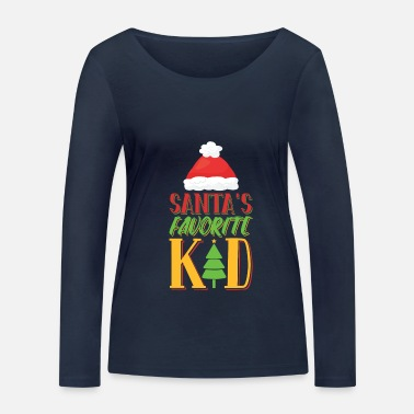 Santa Claus child baby Christmas - Women's Organic Longsleeve Shirt
