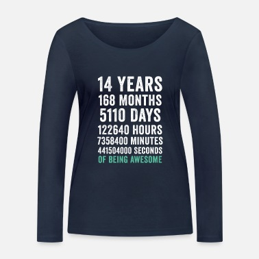 Father's Day Birthday Gift T Shirt 14 Years Old Being Awesome - Women's Organic Longsleeve Shirt
