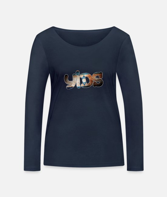 THFC Long-Sleeved Shirts - Tottenham Yids - Women's Organic Longsleeve Shirt navy