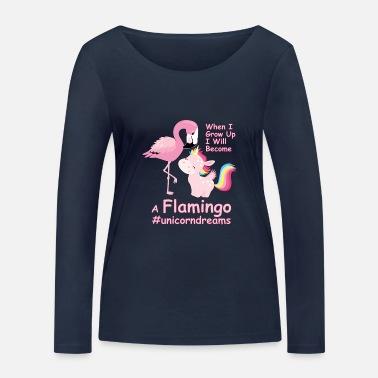 Flamingo #unicorndreams med enhörning Rosa Unicorn Premium T shirt dam svart
