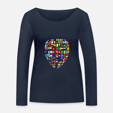 Wikileaks Pirate anonyme mondial Wikileaks Vandetta - T-shirt manches longues bio Femme