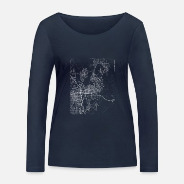 Minimal Sparks city map and streets - Women's Organic Longsleeve Shirt