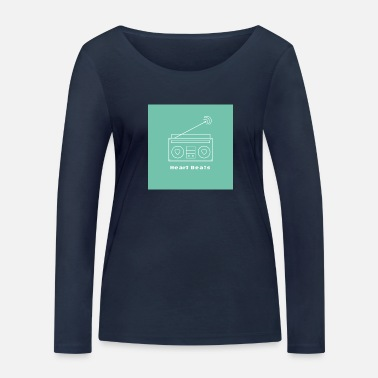 Blue Beat Heart beats blue - Women's Organic Longsleeve Shirt