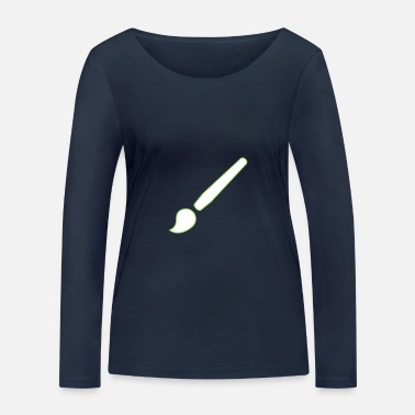 Pictograph Brush for artists - Women's Organic Longsleeve Shirt