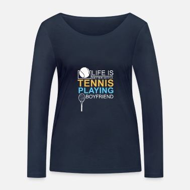 Relationship gift tennis badminton friend - Women's Organic Longsleeve Shirt