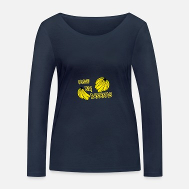 Hclf I love big bananas - Women's Organic Longsleeve Shirt