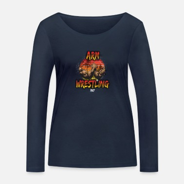 Arm Wrestling Miami Beach Sunset Style T-Shirt - Women's Organic Longsleeve Shirt