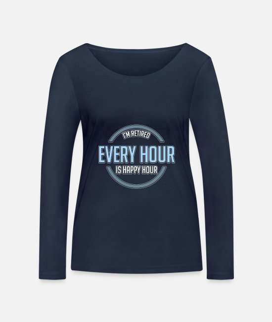 Celebrate Long-Sleeved Shirts - Happy hour - Women's Organic Longsleeve Shirt navy