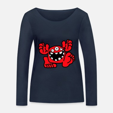 Proud To Be A Monster Cartoon by Cheerful Madness! - Women's Organic Longsleeve Shirt