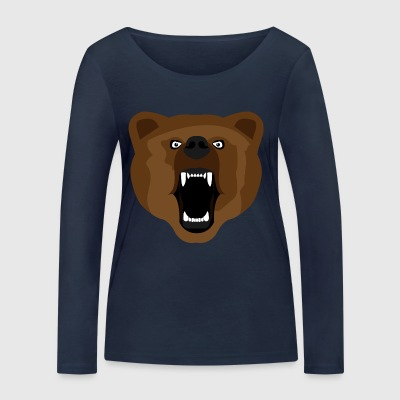 Ours / Ours / Медвед / agressif - T-shirt manches longues bio Stanley & Stella Femme
