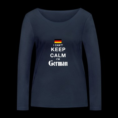 I CAN T KEEP CALM german - Women's Organic Longsleeve Shirt by Stanley & Stella
