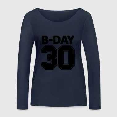 30th birthday number numbers jersey number - Women's Organic Longsleeve Shirt by Stanley & Stella