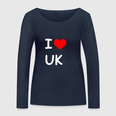 I love UK UK - Women's Organic Longsleeve Shirt by Stanley & Stella