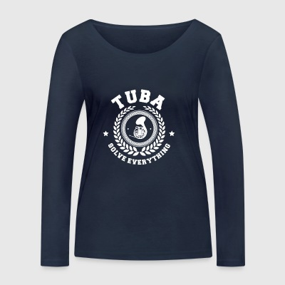 TUBIST ORCHESTRA: TUBA SOLVE EVERYTHING GIFT - Women's Organic Longsleeve Shirt by Stanley & Stella