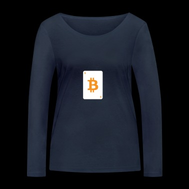 Bitcoin playing card - Women's Organic Longsleeve Shirt by Stanley & Stella