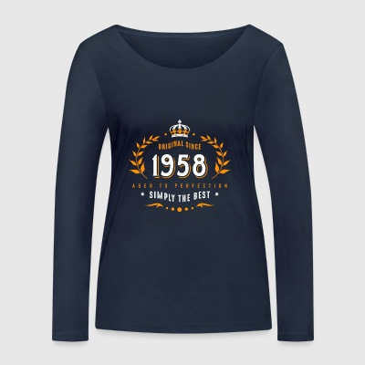 original since 1958 simply the best 60th birthday - Women's Organic Longsleeve Shirt by Stanley & Stella
