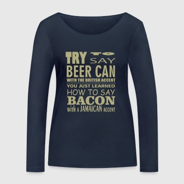 Beer can comic - Women's Organic Longsleeve Shirt by Stanley & Stella