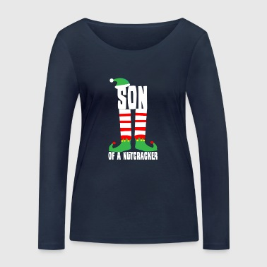 Christmas gift present Xmas advent nutcracker - Women's Organic Longsleeve Shirt by Stanley & Stella