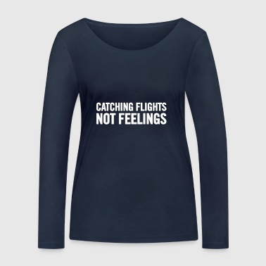 Catching Flights White - Women's Organic Longsleeve Shirt by Stanley & Stella
