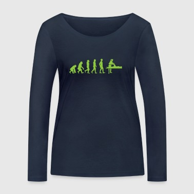 Evolution - Physiotherapist - Funny - Gift - Women's Organic Longsleeve Shirt by Stanley & Stella