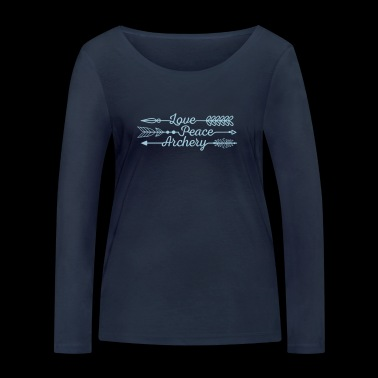 Love Peace Archery (Archery by BOWTIQUE) - Women's Organic Longsleeve Shirt by Stanley & Stella