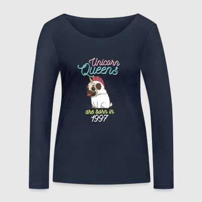 Unicorn Queens are born in 1997 - Women's Organic Longsleeve Shirt by Stanley & Stella