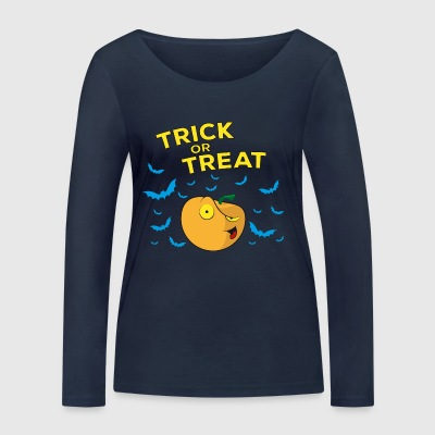 Halloween Trick or Treat - Pumpkin - Women's Organic Longsleeve Shirt by Stanley & Stella