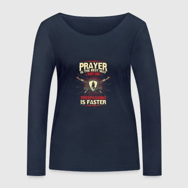 PRAYER - Women's Organic Longsleeve Shirt by Stanley & Stella