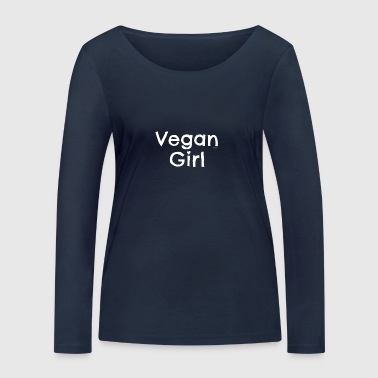 Vegan T-shirt Vegan Girl - Women's Organic Longsleeve Shirt by Stanley & Stella