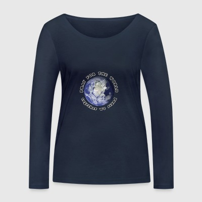 Pray For The World - Women's Organic Longsleeve Shirt by Stanley & Stella
