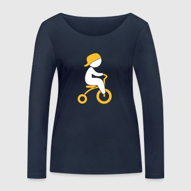 Boy Riding His Tricycle - Women's Organic Longsleeve Shirt by Stanley & Stella